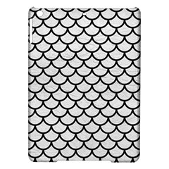 Scales1 Black Marble & White Leather Ipad Air Hardshell Cases