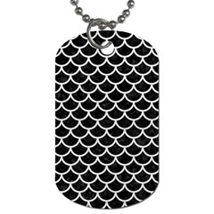 Scales1 Black Marble & White Leather (r) Dog Tag (two Sides)