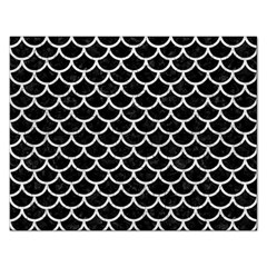 Scales1 Black Marble & White Leather (r) Rectangular Jigsaw Puzzl