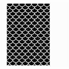 Scales1 Black Marble & White Leather (r) Small Garden Flag (two Sides)