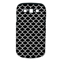 Scales1 Black Marble & White Leather (r) Samsung Galaxy S Iii Classic Hardshell Case (pc+silicone)