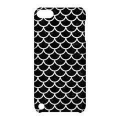 Scales1 Black Marble & White Leather (r) Apple Ipod Touch 5 Hardshell Case With Stand