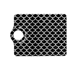 Scales1 Black Marble & White Leather (r) Kindle Fire Hd (2013) Flip 360 Case