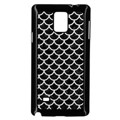 Scales1 Black Marble & White Leather (r) Samsung Galaxy Note 4 Case (black)
