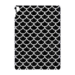 Scales1 Black Marble & White Leather (r) Apple Ipad Pro 10 5   Hardshell Case