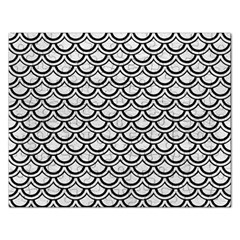 Scales2 Black Marble & White Leather Rectangular Jigsaw Puzzl