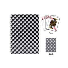 Scales2 Black Marble & White Leather Playing Cards (mini)