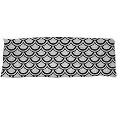Scales2 Black Marble & White Leather Body Pillow Case (dakimakura)