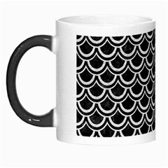 Scales2 Black Marble & White Leather (r) Morph Mugs