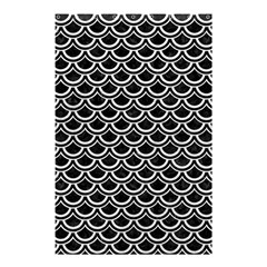Scales2 Black Marble & White Leather (r) Shower Curtain 48  X 72  (small)