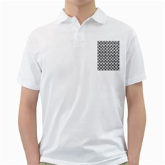 Scales3 Black Marble & White Leather Golf Shirts