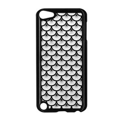 Scales3 Black Marble & White Leather Apple Ipod Touch 5 Case (black)