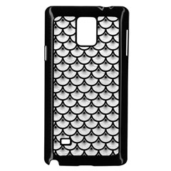Scales3 Black Marble & White Leather Samsung Galaxy Note 4 Case (black)