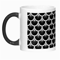 Scales3 Black Marble & White Leather (r) Morph Mugs