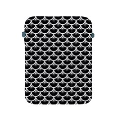 Scales3 Black Marble & White Leather (r) Apple Ipad 2/3/4 Protective Soft Cases