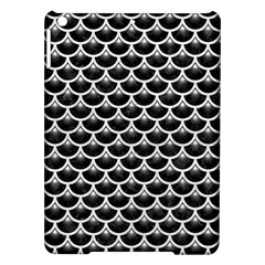 Scales3 Black Marble & White Leather (r) Ipad Air Hardshell Cases