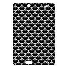 Scales3 Black Marble & White Leather (r) Amazon Kindle Fire Hd (2013) Hardshell Case