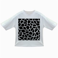 Skin1 Black Marble & White Leather Infant/toddler T Shirts
