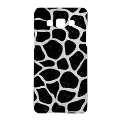 Skin1 Black Marble & White Leather Samsung Galaxy A5 Hardshell Case