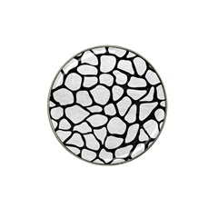 Skin1 Black Marble & White Leather (r) Hat Clip Ball Marker