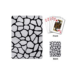 Skin1 Black Marble & White Leather (r) Playing Cards (mini)
