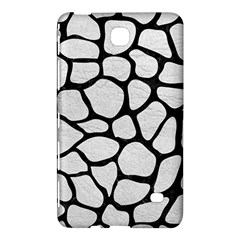 Skin1 Black Marble & White Leather (r) Samsung Galaxy Tab 4 (8 ) Hardshell Case