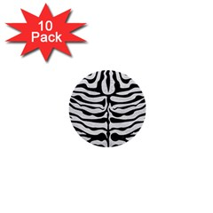 Skin2 Black Marble & White Leather 1  Mini Buttons (10 Pack)