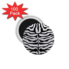 Skin2 Black Marble & White Leather 1 75  Magnets (100 Pack)