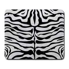 Skin2 Black Marble & White Leather Large Mousepads