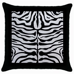Skin2 Black Marble & White Leather Throw Pillow Case (black)