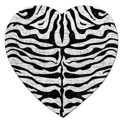 Skin2 Black Marble & White Leather Jigsaw Puzzle (heart)