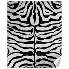Skin2 Black Marble & White Leather Canvas 16  X 20