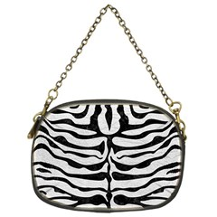 Skin2 Black Marble & White Leather Chain Purses (one Side)