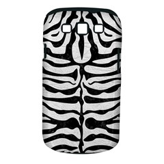 Skin2 Black Marble & White Leather Samsung Galaxy S Iii Classic Hardshell Case (pc+silicone)