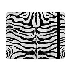 Skin2 Black Marble & White Leather Samsung Galaxy Tab Pro 8 4  Flip Case