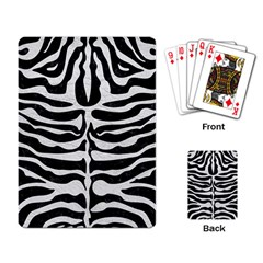 Skin2 Black Marble & White Leather (r) Playing Card
