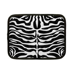Skin2 Black Marble & White Leather (r) Netbook Case (small)