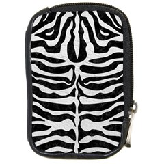 Skin2 Black Marble & White Leather (r) Compact Camera Cases