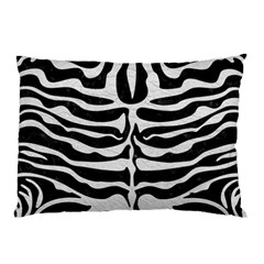 Skin2 Black Marble & White Leather (r) Pillow Case (two Sides)
