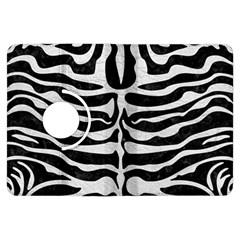 Skin2 Black Marble & White Leather (r) Kindle Fire Hdx Flip 360 Case