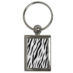 Skin3 Black Marble & White Leather Key Chains (rectangle)