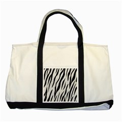 Skin3 Black Marble & White Leather Two Tone Tote Bag