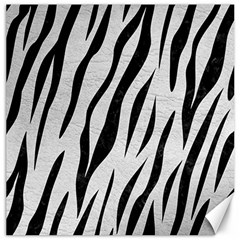 Skin3 Black Marble & White Leather Canvas 12  X 12