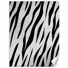 Skin3 Black Marble & White Leather Canvas 36  X 48