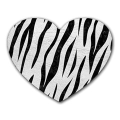 Skin3 Black Marble & White Leather Heart Mousepads