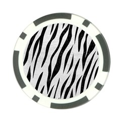 Skin3 Black Marble & White Leather Poker Chip Card Guard