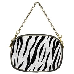 Skin3 Black Marble & White Leather Chain Purses (one Side)