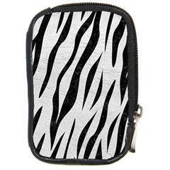 Skin3 Black Marble & White Leather Compact Camera Cases