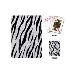 Skin3 Black Marble & White Leather Playing Cards (mini)