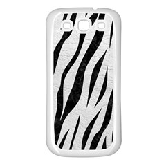 Skin3 Black Marble & White Leather Samsung Galaxy S3 Back Case (white)